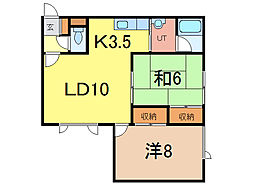 ウォーム713[2階]の間取り
