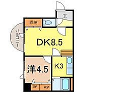 ダイメックス旭川4条ビル[11階]の間取り