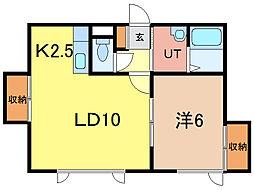 レジデンス[2階]の間取り