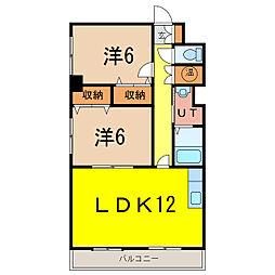 丸タカビル[3階]の間取り