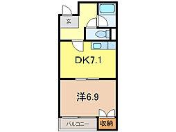 中島プラザビル[2階]の間取り