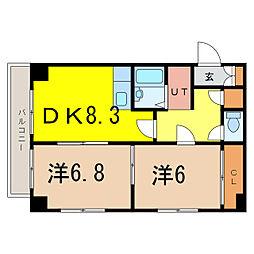 中島プラザビル[8階]の間取り