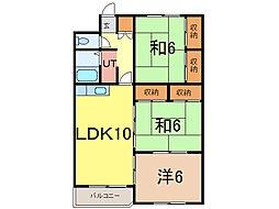カムイ24B[1階]の間取り