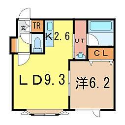 ロワールA[1階]の間取り