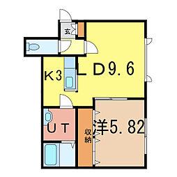 ピアコートシャンテ[2階]の間取り