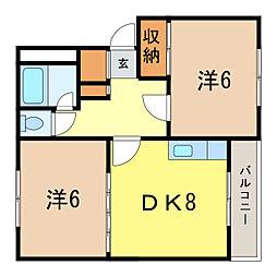 プラザ72[3階]の間取り