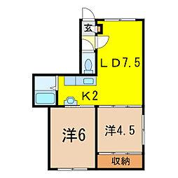 Mimiru[1階]の間取り