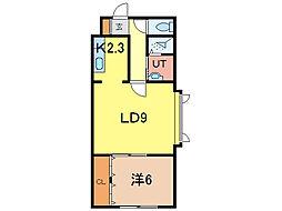 AMU5・23[3階]の間取り