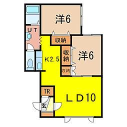 Maple D[2階]の間取り