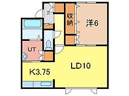 アジアートIII[2階]の間取り