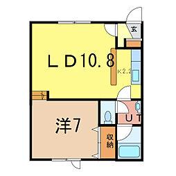 YAMAZAKI II[1階]の間取り