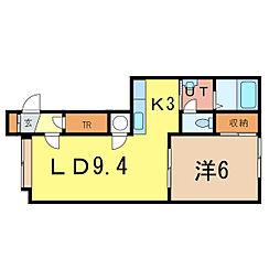 ライフステージホープIII[1階]の間取り