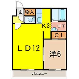 サンフラワー308[2階]の間取り