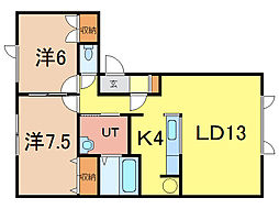 ノースフォート[2階]の間取り