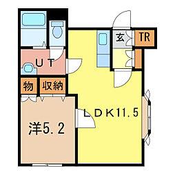 ウィステリア21B[2階]の間取り