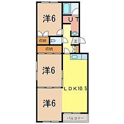 マツヨシハイツ[3階]の間取り