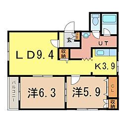 ピュアライフII[2階]の間取り