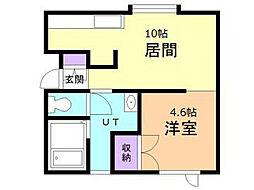 メゾン・ド・カミーユ B[2階]の間取り