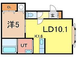 ノヴェル3・13 A[2階]の間取り