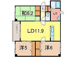 E21−ユーメス[3階]の間取り