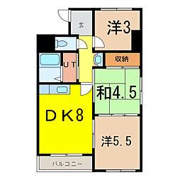 アーバンライフ東7条[5階]の間取り