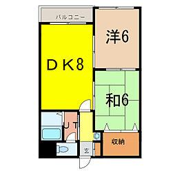 アーバンライフ東7条[4階]の間取り
