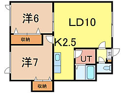 神楽レジデンス[1階]の間取り