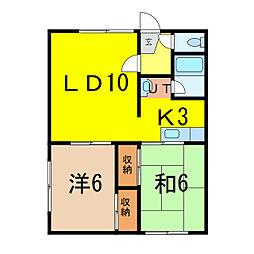 ロピア146[1階]の間取り