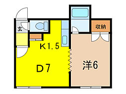 サイレンスミキA・B棟[2階]の間取り