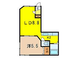 サイレンスミキA・B棟[1階]の間取り