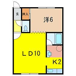 モアライフII[2階]の間取り