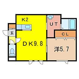 グランピア5・4[1階]の間取り