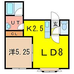 S.tプラネット B棟[2階]の間取り