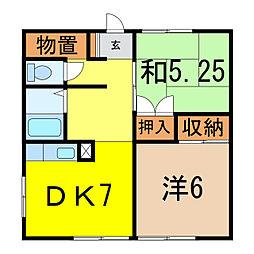 東和マンション[1階]の間取り