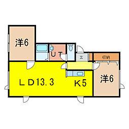 Mii Casa[1階]の間取り