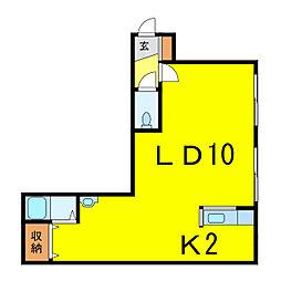 アランフェスA[2階]の間取り