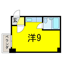 パンシオンSAM[4階]の間取り