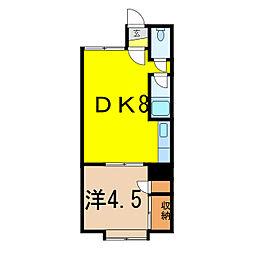 ウッデイハウスB[1階]の間取り