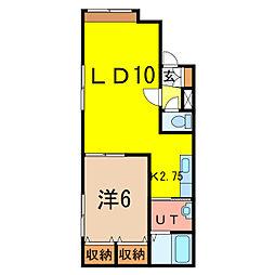 アスティ9.3[1階]の間取り