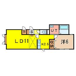 ロール B棟[2階]の間取り