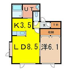 ルシェール320[1階]の間取り