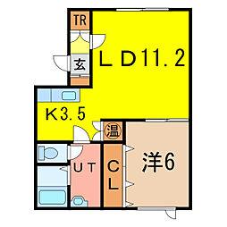 アルト18[2階]の間取り