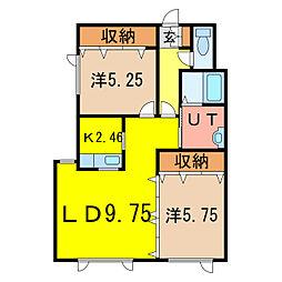 レジェンド3・4[1階]の間取り