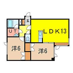 AXIS5−23[3階]の間取り