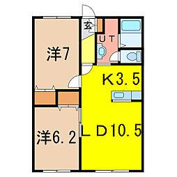 サンセットN1.14C[1階]の間取り