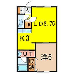 ハウジング開発ビル[2階]の間取り