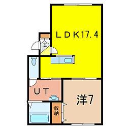 グランデ15[2階]の間取り
