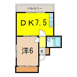 レジデンス5条(5-7)[6階]の間取り
