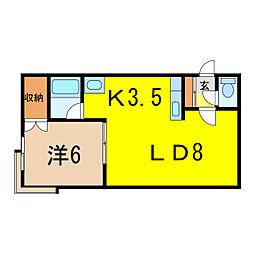 サンセット98[2階]の間取り