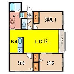 エスティシーク414[1階]の間取り